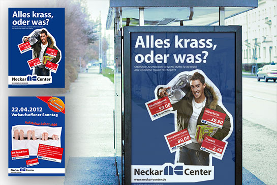 Neckar Center – Plakatwerbung